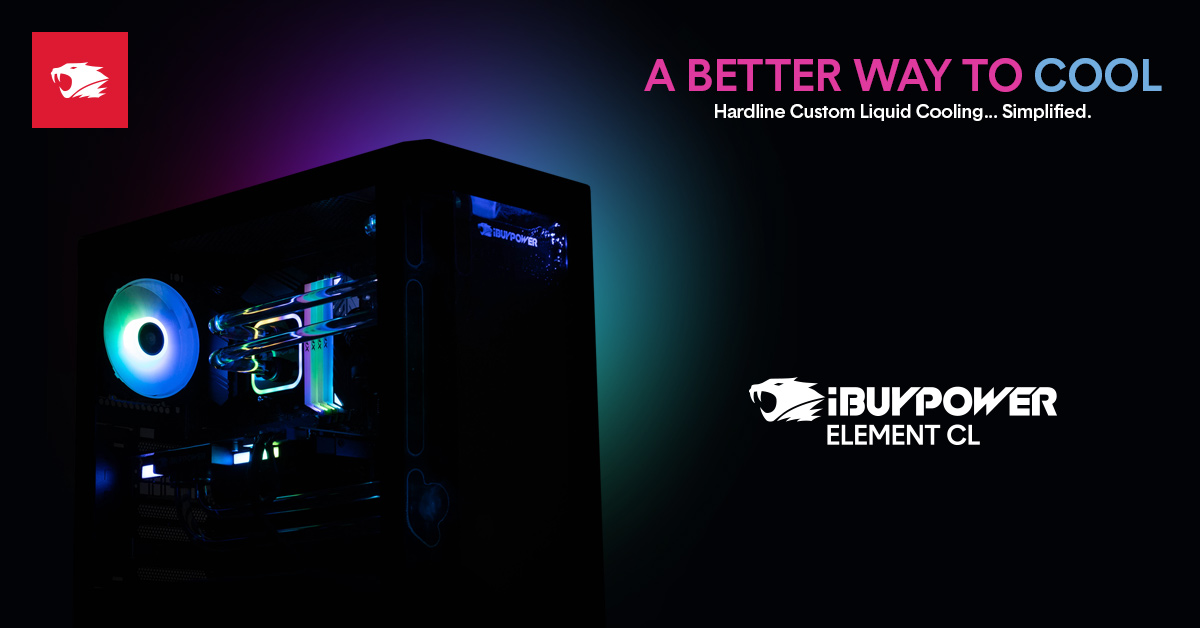 Blog Pc Parts And Benchmarking Check Out Our Fire New Liquid Cooled Gaming Pc The Element Cl Ibuypower