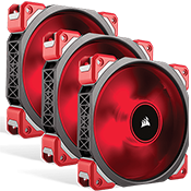 3x [Red] Corsair ML120 PRO Premium Magnetic Levitation 120mm Red LED Fan