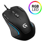 Logitech G300s Optical Gaming Mouse-250-2500 DPI optical sensor w/ Custom RGB lighting