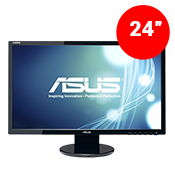"24"" [1920x1080] ASUS VE248H LED Monitor -- 2ms response time + 60Hz refresh rate-Single Monitor"