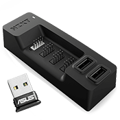 [5-Port] NZXT Internal USB Expansion Hub- 3 Internal connectors, 2 external connectors + ASUS Bluetooth 4.0 USB Adapter