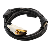6 ft. HDMI to DVI Cable-Gold Plated Connector