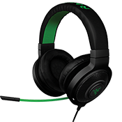 Razer Kraken Pro V2 Gaming Headset [Black]-50mm neodymium driver w/ in-line volume and mic control