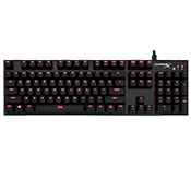 HyperX Alloy FPS Mechanical Gaming Keyboard [Blue Switches]-Cherry MX Blue switches; Red Backlit keys