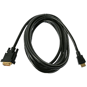 16 ft. HDMI to DVI Cable-Broadcast quality performance, tested to pass 1080p