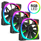 3x [RGB] NZXT AER RGB LED 120mm Fan - must be purchased with NZXT Hue+ PC Lighting