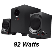 Creative BlasterX Kratos S3 Gaming Speaker System-Natural sounding wooden enclosures; convenient audio controls