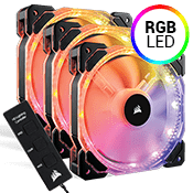 3x [RGB] Corsair HD120 High Performance PWM 120mm RGB LED Fan