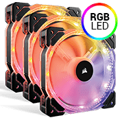 3x [RGB] Corsair HD120 RGB LED High Performance PWM 120mm Fan