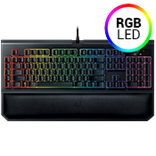 Razer Blackwidow Chroma V2 Gaming Keyboard-Razer™ Mechnical Green Switches; customizable Chroma backlight keys