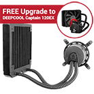 Asetek 550LC 120mm Liquid CPU Cooler-Free Upgrade to DEEPCOOL Captain 120EX (Standard 120mm Fan)