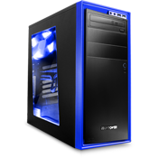 NZXT Source 210 Mid Tower Case - Blue-Blue
