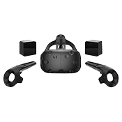 HTC Vive - Virtual Reality System w/ Controllers and Base Stations