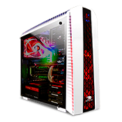 iBUYPOWER Tt Versa N27 Gaming Case - White-White