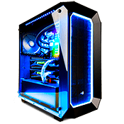 AeroCool P7-C0 2x Side Tempered Glass RGB Gaming Case-Black