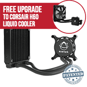 Asetek 550LC 120mm Liquid Cooling System-Standard 120mm Fan - *Free Upgrade to Corsair H60 Liquid Cooling* [Ryzen]