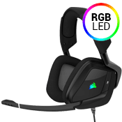 Corsair VOID PRO RGB Gaming Headset - Virtual 7.1 Surround Sound-Dolby® Headphone 7.1; Carbon