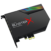 Creative Sound BlasterX AE-5 [PCIE] -- 7.1 Channels, 384kHz/32-bit with SABRE Ultra Class DAC, 122 dB SNR