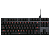 HyperX Alloy FPS PRO Mechanical Gaming Keyboard (Tenkeyless)-Cherry MX Red switches; Red Backlit keys