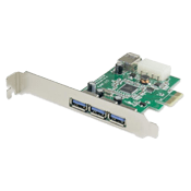 PCI-Expresss USB 3.0 4-Port Card (3x External + 1x Internal)
