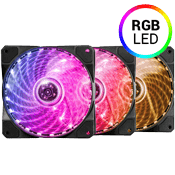 3x [RGB] Raidmax NV 120mm RGB LED Fan