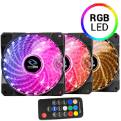 3x [RGB] Raidmax NV-A120R3 120mm RGB LED Fan