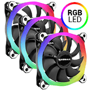 3x [RGB] Raidmax NV-R120B 120mm RGB LED Ring Fan