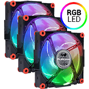 3x [RGB] In Win Aurora 120mm RGB LED Fan
