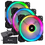 3x [RGB] CORSAIR LL120 120mm Dual Light Loop Ring Fan