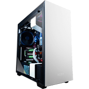 NZXT H700i Tempered Glass Gaming Case - White with NZXT Hue+ RGB Lighting