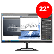 "22"" [1920x1080] Sceptre E225W-1920RR LED-lit Monitor -- 5ms response time + 60Hz refresh rate-Single Monitor"