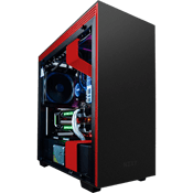 NZXT H700i Tempered Glass Gaming Case - Black/Red with NZXT Hue+ RGB Lighting