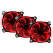 FREE 3x [Red] 120mm LED Ring Case Fan