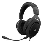 Corsair HS50 Stereo Gaming Headset [Carbon]-Custom-tuned 50mm neodymium speaker drivers