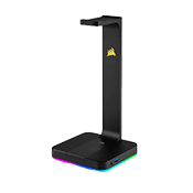 CORSAIR ST100 RGB Premium Headset Stand with 7.1 Surround Sound-A built-in 3.5mm analog jack creates full-range stereo or 7.1 surround sound