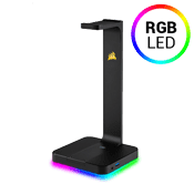 CORSAIR GAMING ST100 RGB Premium Headset Stand-A built-in 3.5mm analog jack creates full-range stereo or 7.1 surround sound