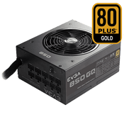 850 Watt - EVGA 850 GQ - 80 PLUS Gold, Semi Modular