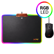 Adata Infarex R10 RGB Gaming Mouse Pad - Includes Free Infarex M10 Gaming Mouse-3200 DPI Optical sensor; PVC Hard Surface, Nine Lighting Mode