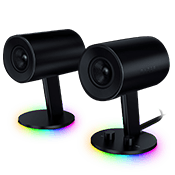 Razer Nommo Chroma RGB Gaming Speakers-Full Range Immersion; Glass Fiber Drivers; Rear-Facing Bass Ports