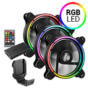 3x [RGB] ENERMAX T.B 120mm RGB LED Fan includes FREE ENERMAX Magnetic Headset Holder