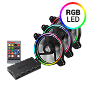 3x [RGB] Enermax T.B 120mm RGB LED Fan