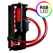 Swiftech H220 X3 240mm Liquid Cooling System - Red