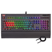 Thermaltake TT Premium X1 RGB Mechanical Gaming Keyboard-Cherry MX Speed Blue Switches