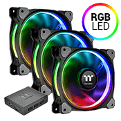 3x [RGB] Thermaltake Riing Plus 12 Premium Edition 120mm RGB LED Fan