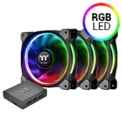 3x [RGB] Thermaltake Riing Plus 12 Premium Edition 120mm Fan