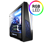 iBUYPOWER Thor 320 Tempered Glass RGB Gaming Case