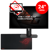 24'' [1920x1080] ASUS ROG SWIFT PG248Q LED-Lit Monitor --1ms response time + 180Hz refresh rate + Free Asus Mousepad-Single Monitor