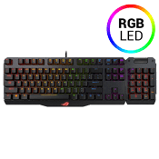 ASUS ROG Claymore RGB Mechanical Aluminum Gaming Keyboard with Detachable Numpad [Red Switches]-Individual Backlit keys; Cherry MX Red Switches