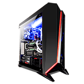 Corsair Carbide Series Spec Omega Tempered Glass LED Gaming Case - Black/Black