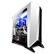 Corsair Carbide Series Spec Omega Tempered Glass LED Gaming Case - Black/White